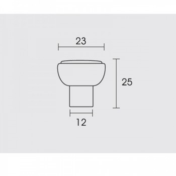 Conset C631-23 Φυσικός Σίδηρος Πόμολο Επίπλου