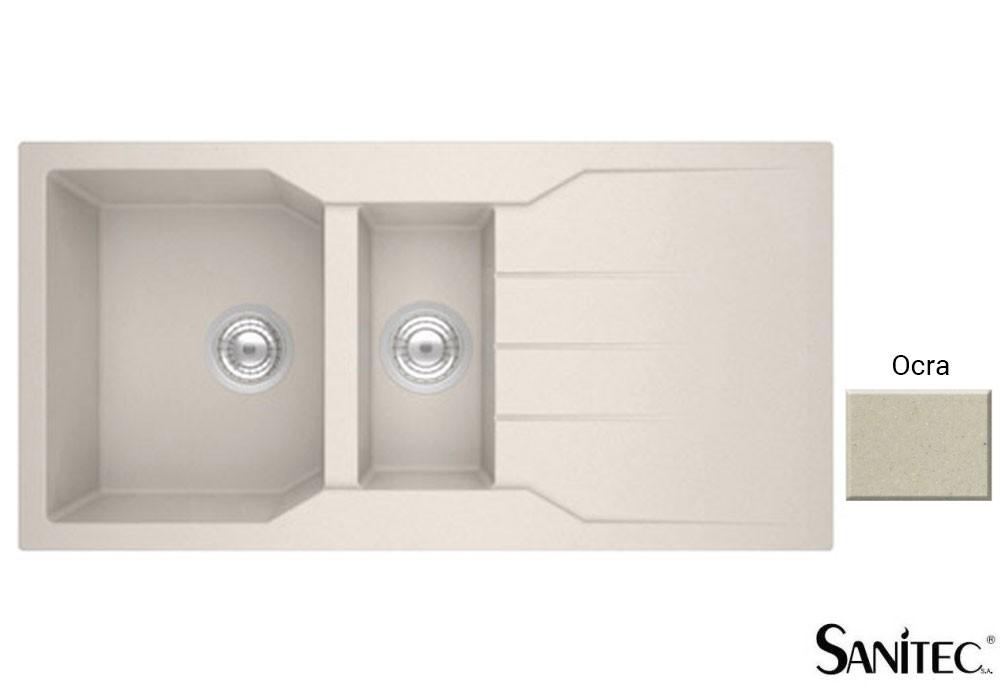 Sanitec Granite 802 Ocra Ένθετος Νεροχύτης 100 1 1/2 B 1D