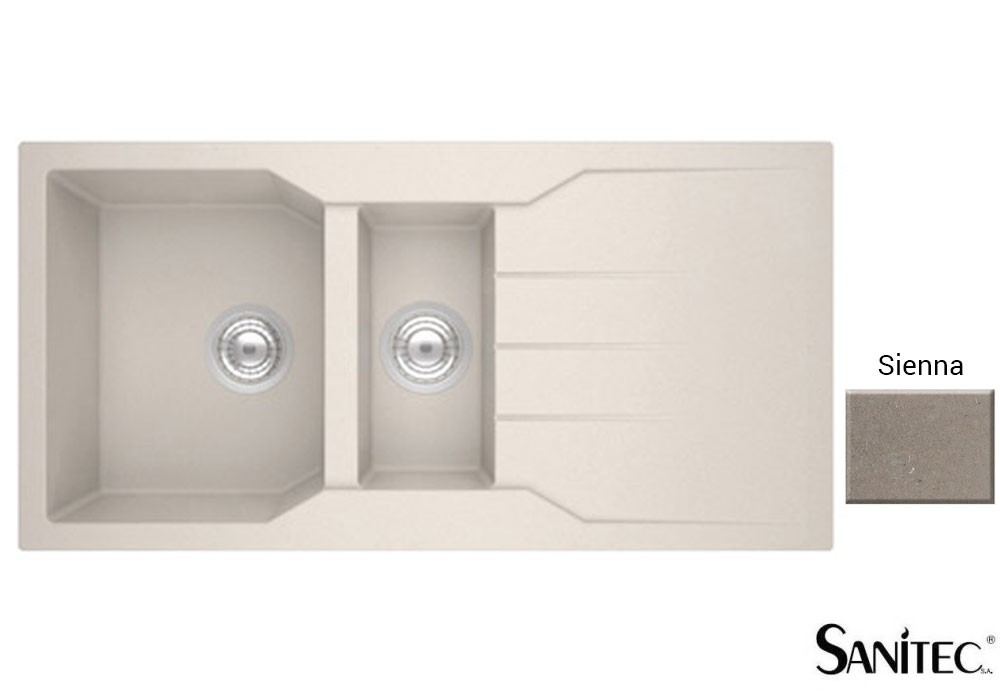 Sanitec Granite 802 Sienna Ένθετος Νεροχύτης 100 1 1/2 B 1D
