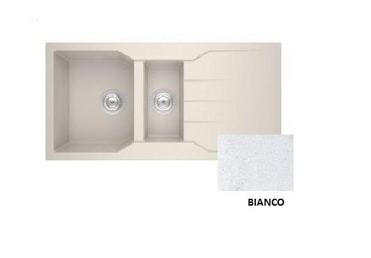 Sanitec Granite 802 Bianco Ένθετος Νεροχύτης 100 1 1/2 B 1D