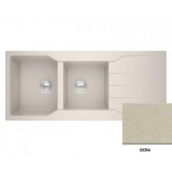 Sanitec Granite 801 Bianco Νεροχύτης 116 2B 1D