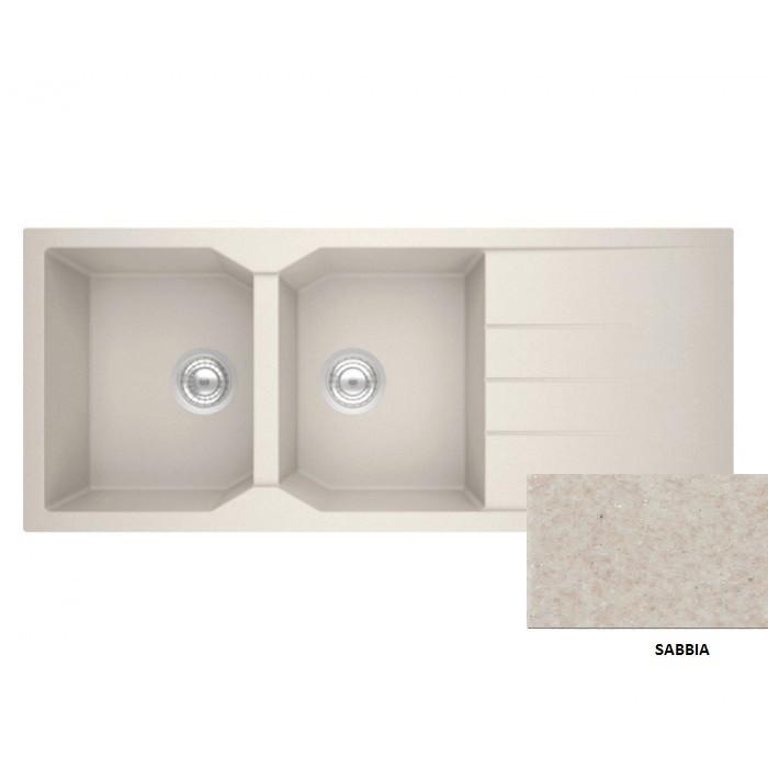 Sanitec Granite 800 Sabbia Ένθετος Νεροχύτης 116 2B 1D