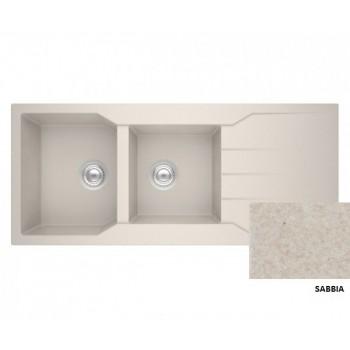 Sanitec Granite 801 Sabbia Νεροχύτης 116 2B 1D