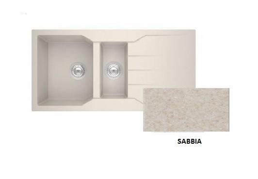 Sanitec Granite 802 Sabbia Ένθετος Νεροχύτης 100 1 1/2 B 1D