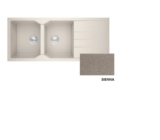 Sanitec Granite 800 Sienna Ένθετος Νεροχύτης 116 2B 1D