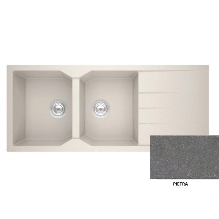 Sanitec Granite 800 Pietra 'Ενθετος Νεροχύτης 116 2B 1D