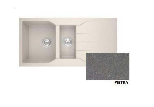 Sanitec Granite 802 Pietra Ένθετος Νεροχύτης 100 1 1/2 B 1D