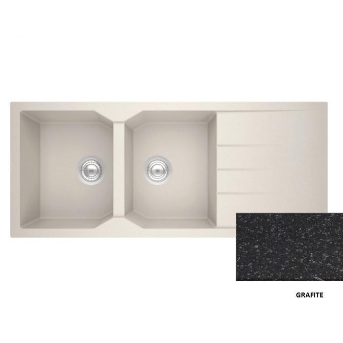 Sanitec Granite 800 Grafite Ένθετος Νεροχύτης 116 2B 1D