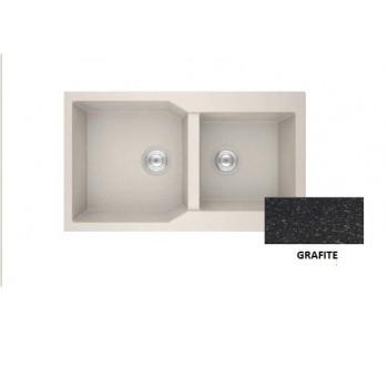 Sanitec Granite 804 Grafite Νεροχύτης 86 2B