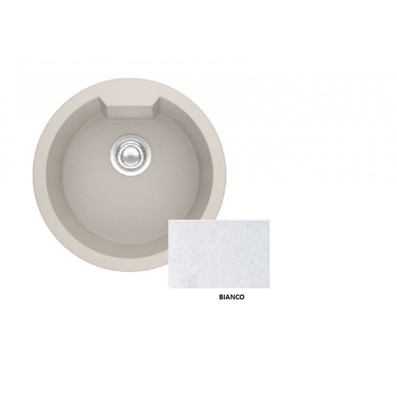 Sanitec Granite 810 Bianco Νεροχύτης 51 1B