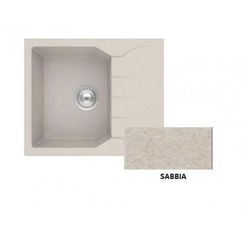 Sanitec Granite 812 Sabbia Νεροχύτης 60 1B 1D