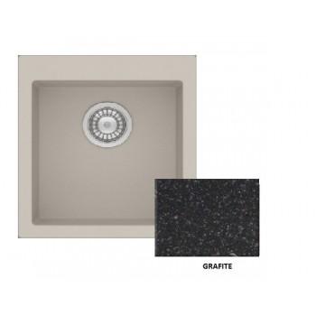 Sanitec Granite 813 Grafite Νεροχύτης 45 1B