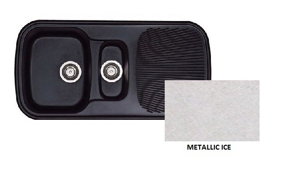 Sanitec Classic 301 Metallic Ice Νεροχύτης