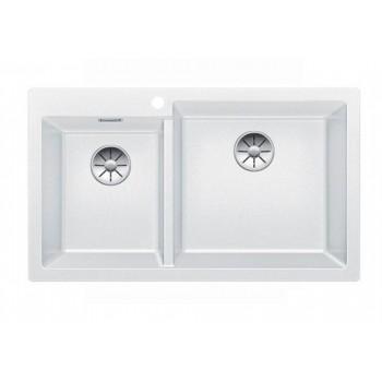 Blanco Pleon 9 White SILGRANIT™ PuraDur™ Γρανιτένιος Νεροχύτης Ένθετος με 2 Γούρνες 86x50cm