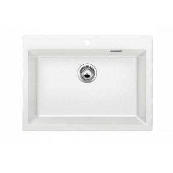 Blanco Pleon 8 White SILGRANIT™ PuraDur™ Γρανιτένιος Νεροχύτης Ένθετος με 1 Γούρνα 70x51cm