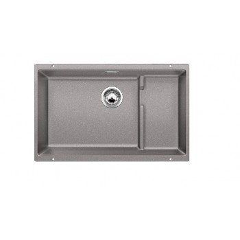 Blanco Subline-U 700-U Level Alu Metallic SILGRANIT™ PuraDur™ Γρανιτένιος Νεροχύτης Υποκαθήμενος με 1 Γούρνα 73x46 cm