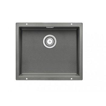Blanco Subline-U 500-U Alu Metallic SILGRANIT™ PuraDur™ Γρανιτένιος Νεροχύτης Υποκαθήμενος με 1 Γούρνα 53x46 cm