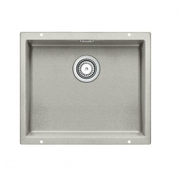 Blanco Subline-U 500-U Pearl Grey SILGRANIT™ PuraDur™ Γρανιτένιος Νεροχύτης Υποκαθήμενος με 1 Γούρνα 53x46 cm