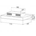 Best Cirrus Glass Draw Inox Απορροφητήρας Οροφής