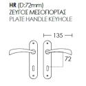 Πόμολο Πόρτας Conset C1405- ΠΛΑΚΑ