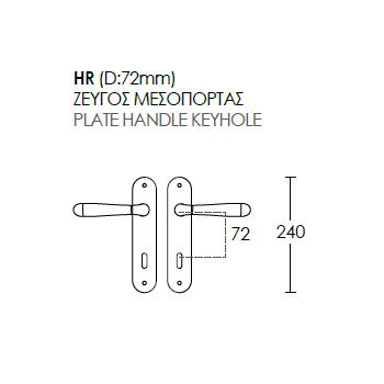 Πόμολο Πόρτας Conset C1265- ΠΛΑΚΑ