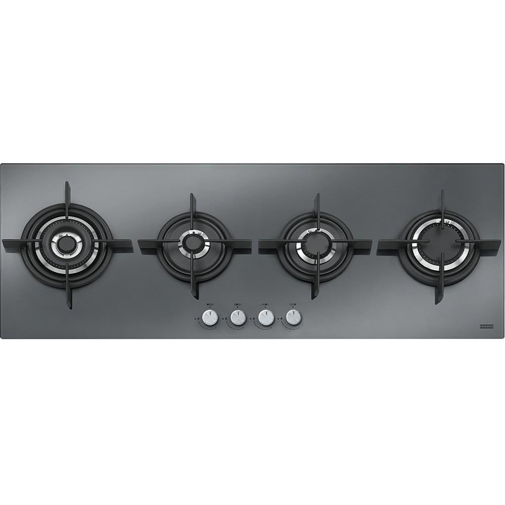 Franke Crystal Plus Steel FHCR 1204 3G TC HE XS C Inox Κρύσταλλο Εστία Αερίου 120cm
