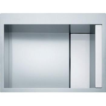 Franke Crystal Line CLV 210 Λείος Νεροχύτης Inox / λευκό κρύσταλλο 80cm