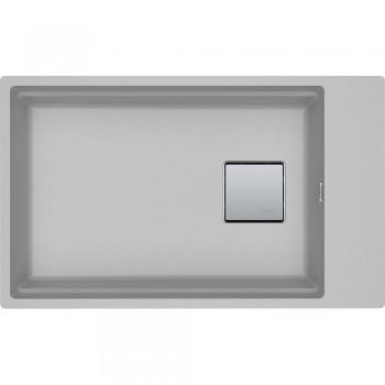 Franke Kubus 2 KNG 110-62 Metallic Platinum Υποκαθήμενος Γρανιτένιος Νεροχύτης