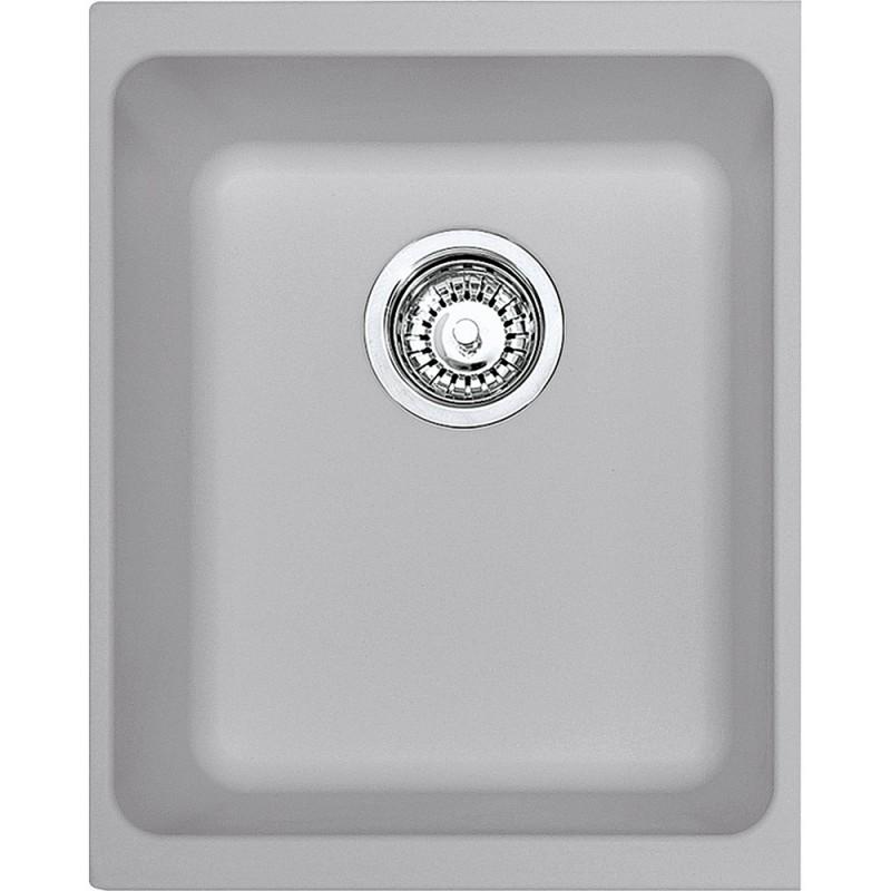 Franke Kubus KBG 110-34 Metallic Platinum Υποκαθήμενος Γρανιτένιος Νεροχύτης
