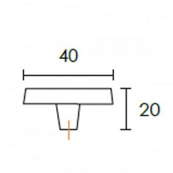 Λαβή επίπλου Conset C1041 (τετράγωνη)