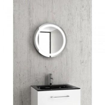Karag PIC012 Καθρέπτης από ανοξείδωτο ατσάλι, κρυφό φωτισμό LED & ντουλάπι