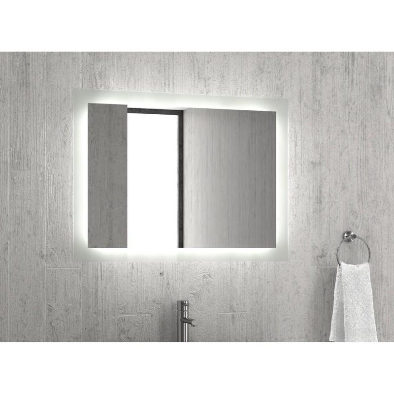 Karag Specchi 40x40 Καθρέπτης με LED φωτισμό και ανοξείδωτο πλαίσιο