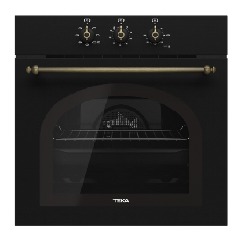 Teka HRB 6100 Anthracite Brass Φούρνος Country Style με HydroClean