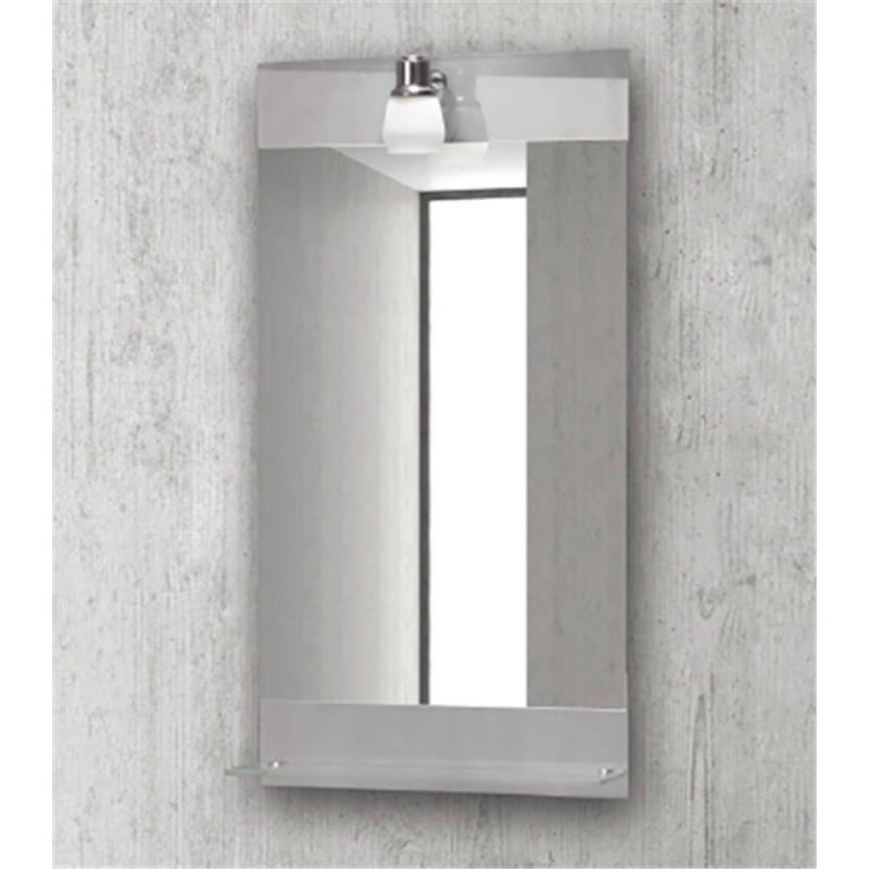 Karag Specchi 28081 Καθρέπτης Με Φωτιστικό και Εταζέρα
