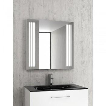 Karag PIC011-1000 Καθρέπτης Από Ανοξείδωτο Ατσάλι 100x75x4 cm & Κρυφό Φωτισμό LED