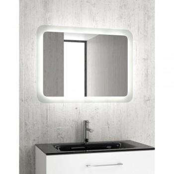 Karag Adel 80 Κρυστάλλινος καθρέπτης 60x80x4 cm με κρυφό φωτισμό LED