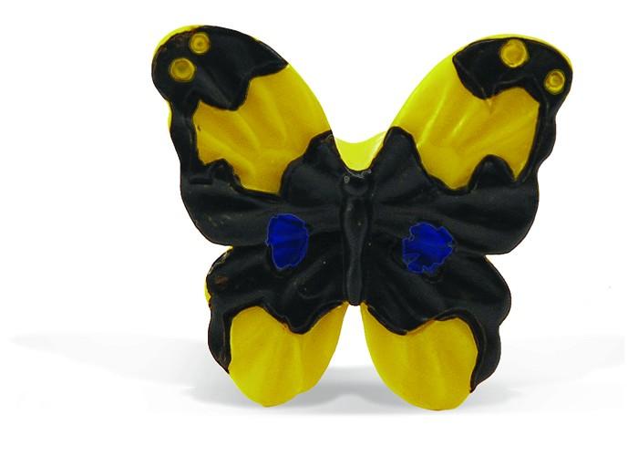 Conset C849-P05 Πεταλούδα Κίτρινο/Μαύρο Πόμολο Επίπλου
