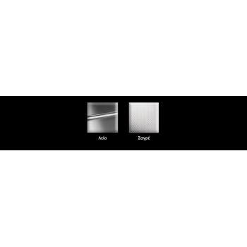 Apell Linear 8530 Ανοξείδωτος Σαγρέ Ένθετος Νεροχύτης Με 2 Γούρνες 86x50 cm