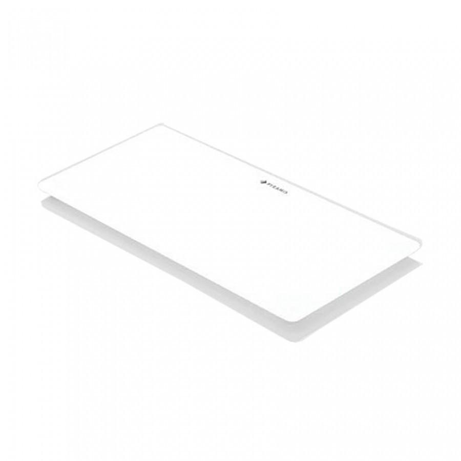 Pyramis Λευκός Γυάλινος Δίσκος Κοπής 20x43,5 cm για τις σειρές Crystalon, Istros, Lume, Tetragon