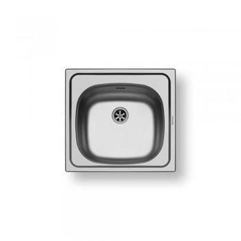 Pyramis Basic E33 Ανοξείδωτος Ένθετος Νεροχύτης Σατινέ Με 1 Γούρνα 46,5x43,5 cm
