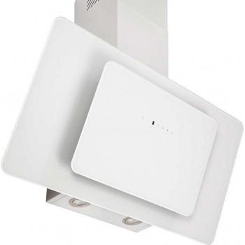 Pyramis Fiero Premium Λευκός Απορροφητήρας Επίτοιχος Inox-Λευκό Γυαλί 60 cm