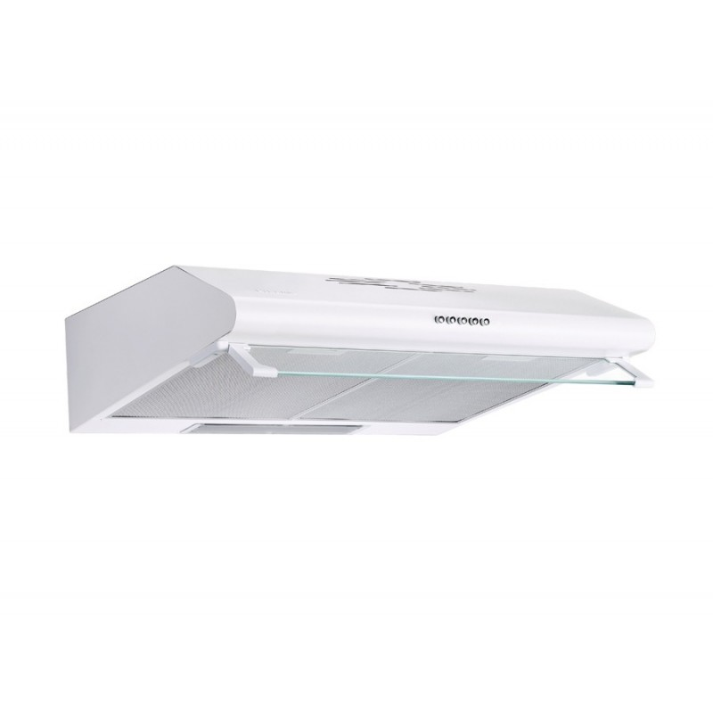 Pyramis Essential Aπλός Λευκός Απορροφητήρας με 1 Μοτέρ και 2 Εξαγωγές Αέρα 60 cm