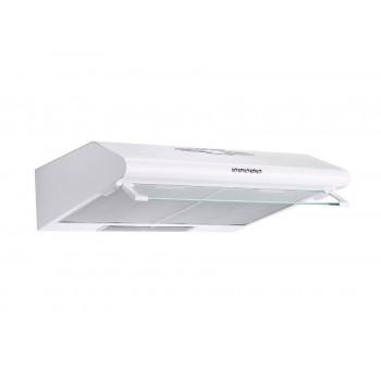 Pyramis Essential Aπλός Λευκός Απορροφητήρας με 2 Μοτέρ και 2 Εξαγωγές Αέρα 60 cm