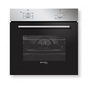 Pyramis Ecoline 60ΑΠ 1006Α Inox Εντοιχιζόμενος Φούρνος Άνω Πάγκου 59,5x59,5x57 cm