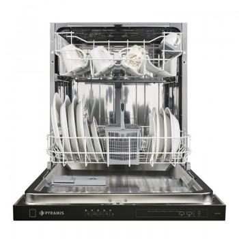 Pyramis DWE 60FI Εντοιχιζόμενο Πλυντήριο Πιάτων με Μαύρο Ταμπλό 60 cm
