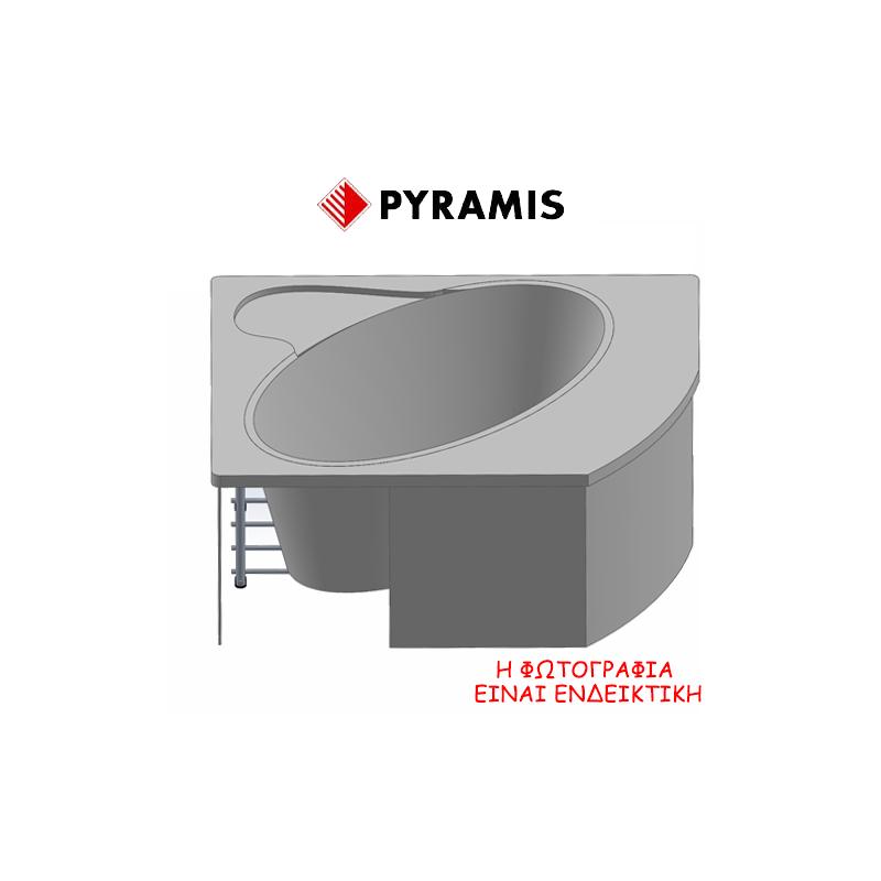 Pyramis Nerin Σύστημα τοποθέτησης μπανιέρας (ποδαράκια) πλάτους 120 cm για τις μπανιέρες Nerin 120x120 cm