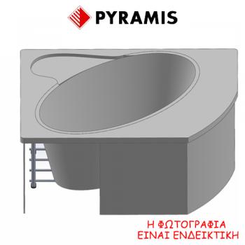 Pyramis Violeta Σύστημα τοποθέτησης μπανιέρας (ποδαράκια) πλάτους 140 cm για τις μπανιέρες Violeta 140x140 cm
