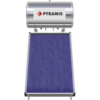Pyramis Ηλιακός Θερμοσίφωνας Glass Διπλής Ενέργειας 160Lt/2m2 Επιλεκτικού Συλλέκτη