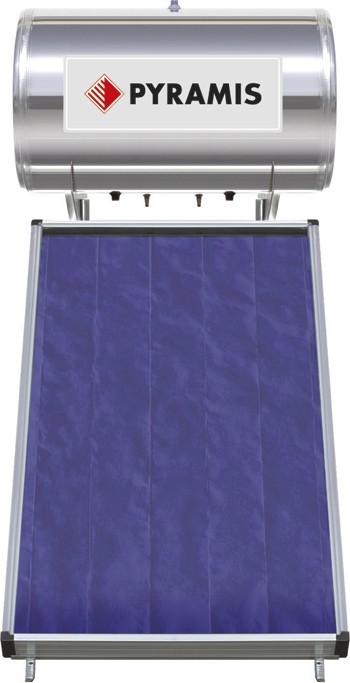 Pyramis Premium Ηλιακός Θερμοσίφωνας Glass Διπλής Ενέργειας 160Lt/2,3m2 Επιλεκτικού Συλλέκτη
