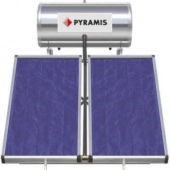 Pyramis Ηλιακός Θερμοσίφωνας Τριπλής Ενέργειας 160Lt/3m2 με 2 Επιλεκτικούς Συλλέκτες